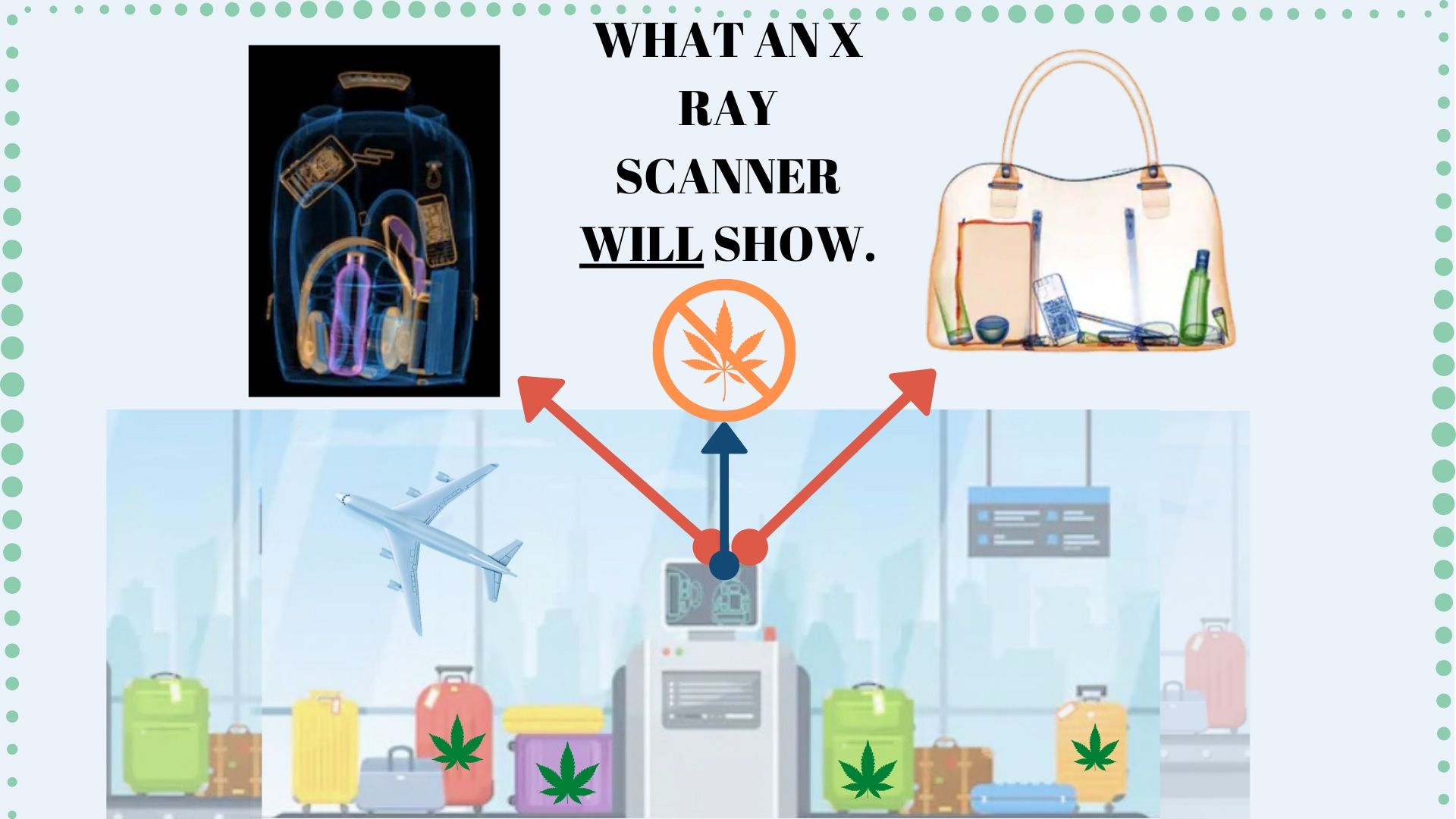 weed will not show on an xray