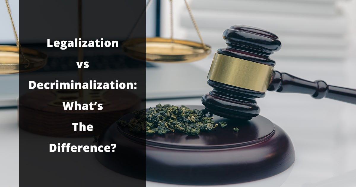 legalization vs decriminalization